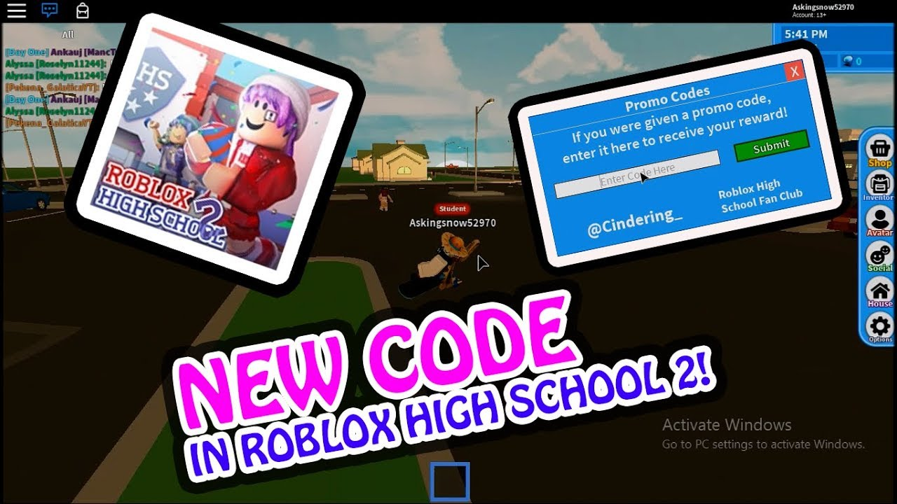 Roblox High School 2 Codes For Avatar Secret Codes For Kart Kingdom