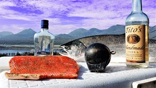 VODKA CURED SALMON (Won't make you drunk) Catch and CURE!!!