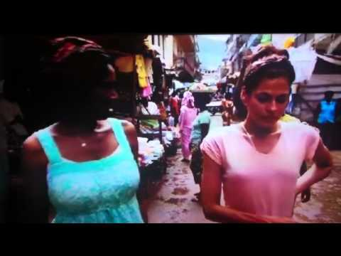 EVA MENDES VISIT TO SIERRA LEONE