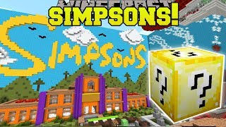 Minecraft: SIMPSONS HOUSE HUNGER GAMES - Lucky Block Mod - Modded Mini-Game