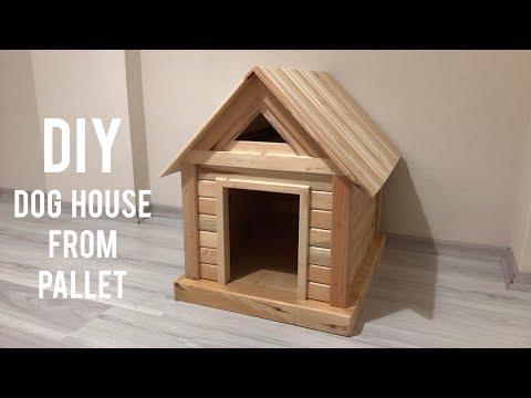 Paletten köpek kulübesi yapımı / Making a dog house from pallets / Wooden dog house
