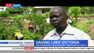 Farmers process water hyacinth to manure in a bid to save and conserve Lake victoria