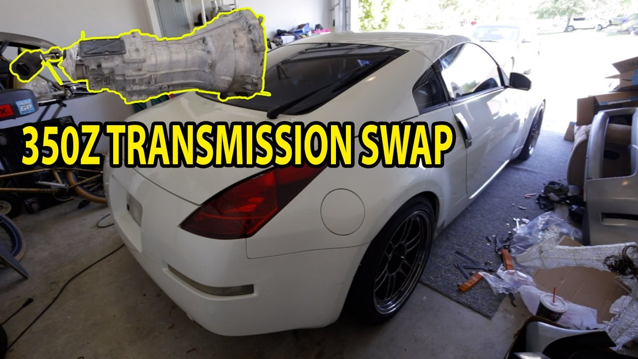 2005 nissan 350z cd009 transmission swap youtube rh youtube com 350z automatic to manual conversion kit 350z automatic to manual conversion kit