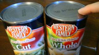 Signs of spoiled canned food