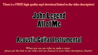 John Legend - All of Me (Acoustic Guitar Instrumental) Karaoke