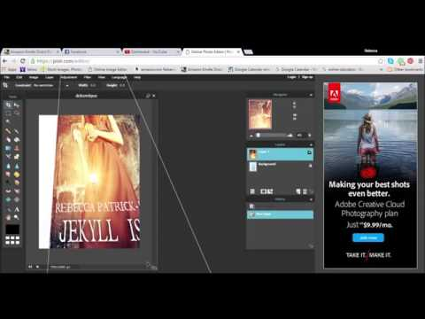 Make a 3D Book Cover for FREE with Pixlr
