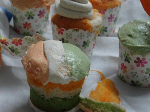 Tricolor cupcakes