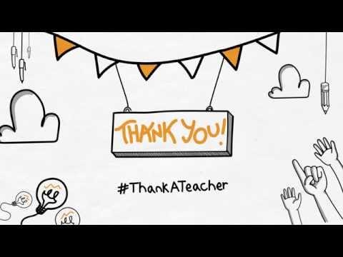 Teacher Appreciation Week - #ThankATeacher (Whiteboard Animation)