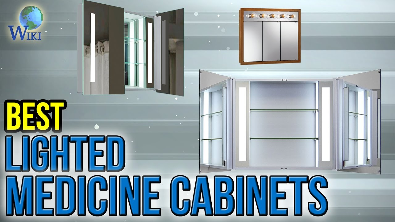 7 Best Lighted Medicine Cabinets 2017 Youtube