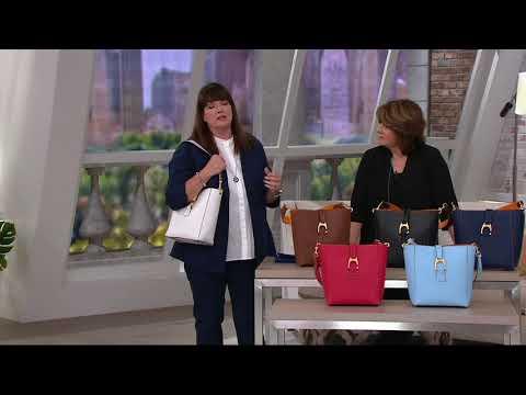 Dooney & Bourke Emerson Leather Shoulder Bucket Handbag- Brynn on QVC