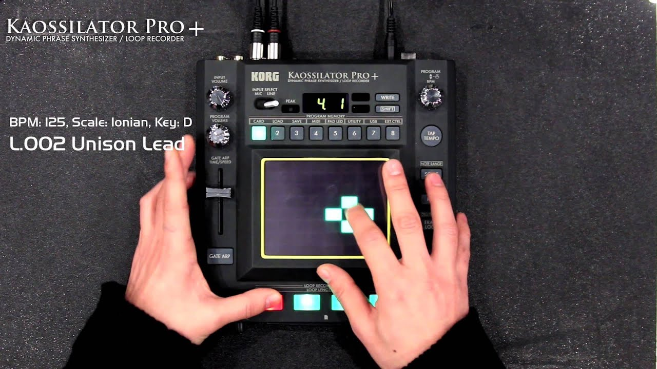 KAOSSILATOR PRO+ - Dynamic Phrase Synthesizer/LOOP RECORDER | KORG (USA)