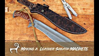 Making Leather Sheath MACHETE