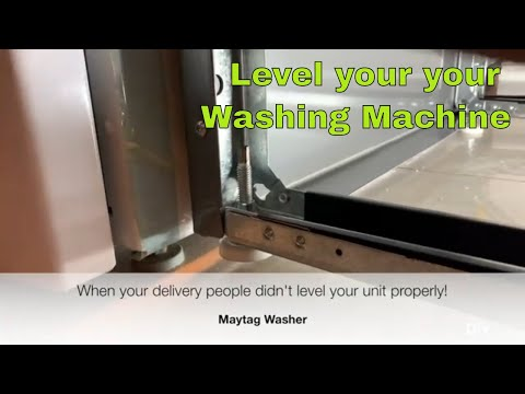 EASY! Maytag Washing Machine Level Adjustment and Pedestal Drawer removal (WHIRLPROOL)