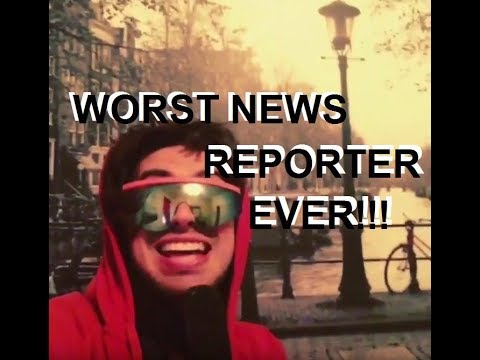 WORST NEWS REPORTER EVER! - LIVE From Amsterdam
