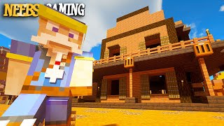 We Built a Western Town!  Minecraft