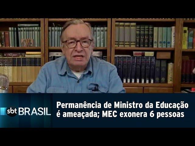 Permanência de Ministro da Educação é ameaçada; MEC exonera 6 pessoas | SBT Brasil (11/03/19)