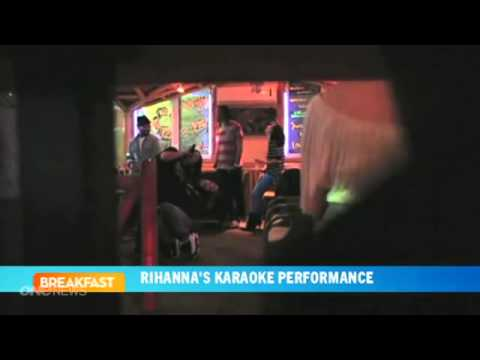 Rihanna's surprise karaoke performance