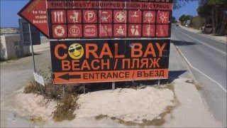coral bay beach paphos cyprus dji phantom 3