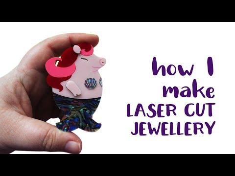 How I make laser cut jewellery.