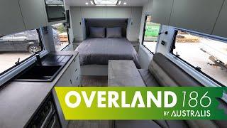 Overland 18'6 RD Couples Caravan Internal Overview