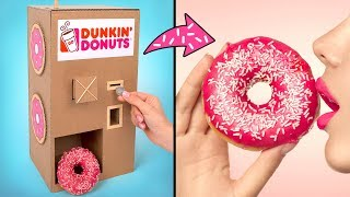 판지로 던킨 도넛 자판…
