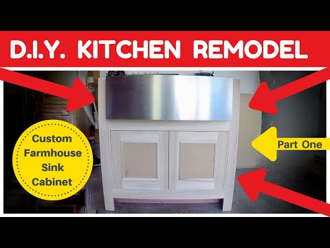 DIY Kitchen Remodel – Custom Farmhouse Sink Cabinet How To