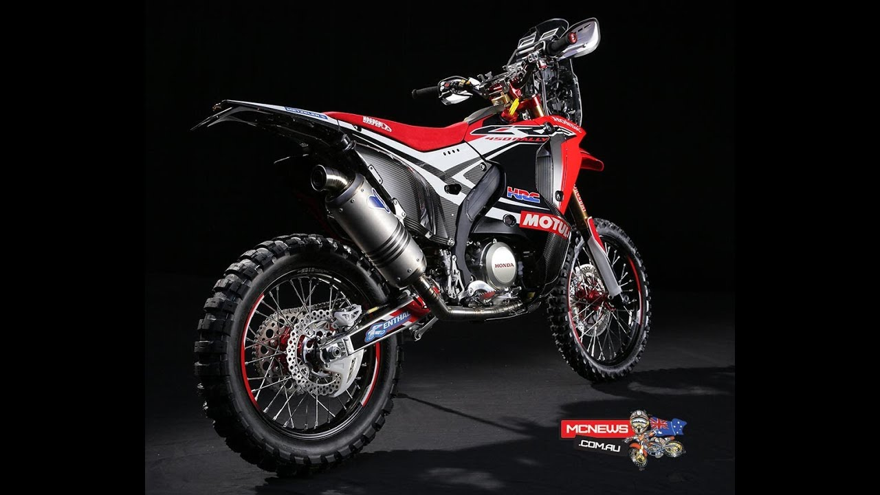 Honda Unveils Dakar Rally Model The New Crf450 Rally