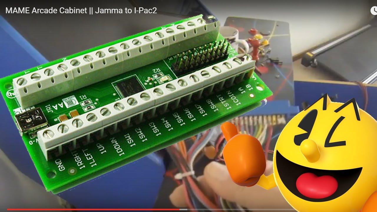 MAME Arcade Cabinet    Jamma to I-Pac2