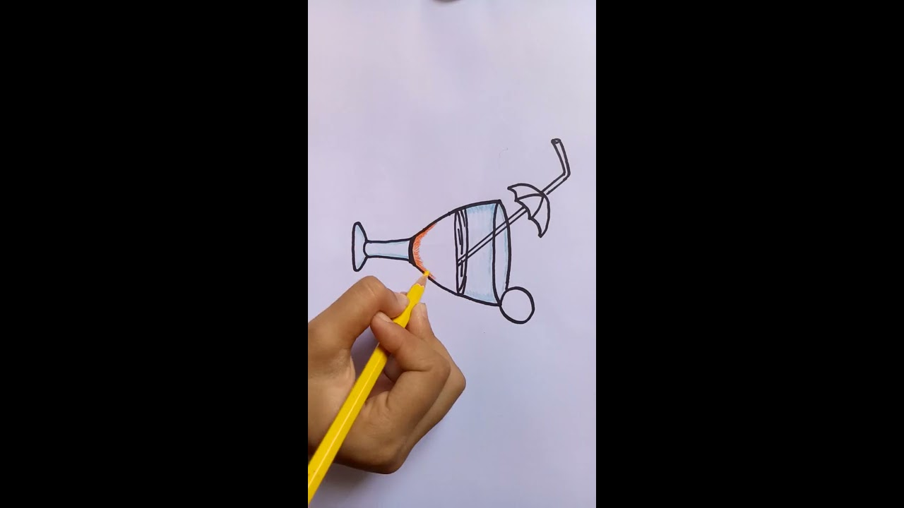 how to draw a juice glass/ coloring pages for kids