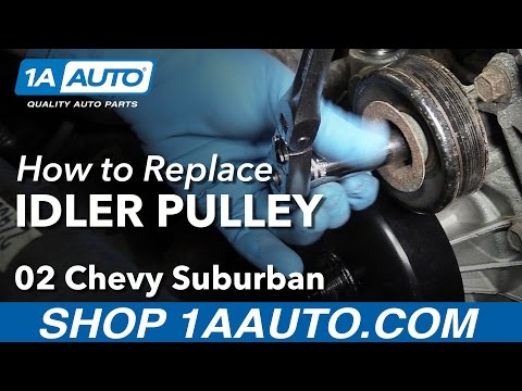 How to Replace Idler Pulley 00-08 V8 5.3L Chevy Suburban