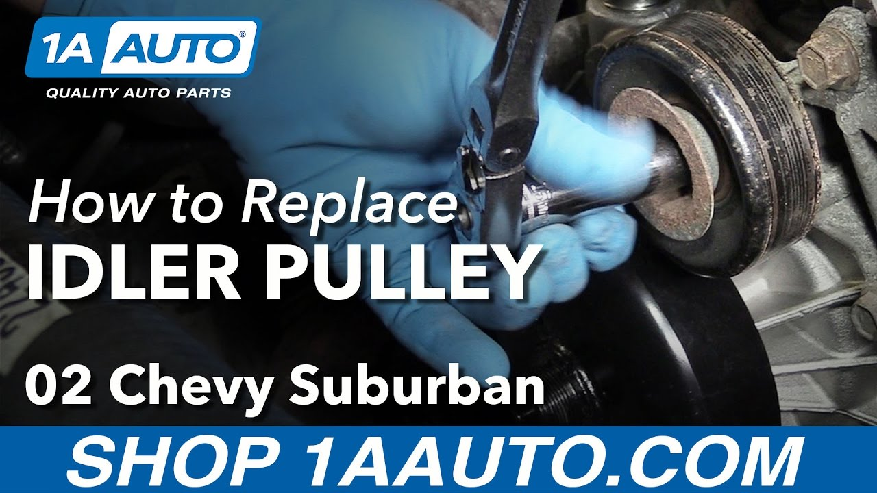 How To Install Replace Idler Pulley 2000 08 V8 53l Chevy Suburban 02 Yukon Engine Diagram