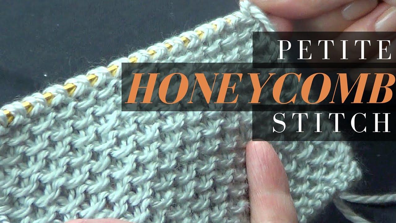 Petite Honeycomb Stitch - Knitting Stitch - YouTube