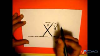 Dibuja con la letra X - Draw with the letter X