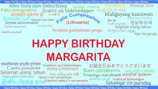Margarita   Languages Idiomas - Happy Birthday