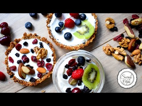 Homemade Granola 2 Ways | Breakfast Granola Tart | Granola Parfait