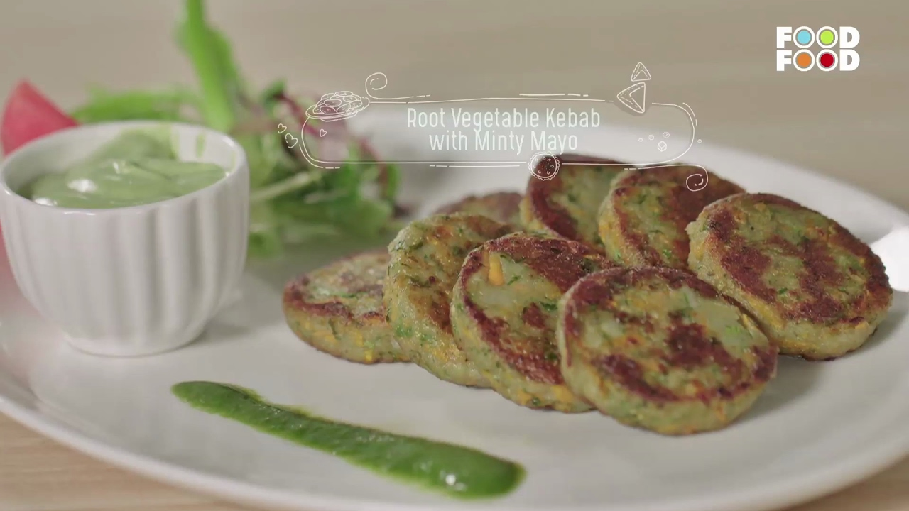 Root vegetable kebab with minty mayo namkeen nation chef rakesh root vegetable kebab with minty mayo namkeen nation chef rakesh sethi foodfood youtube forumfinder Choice Image