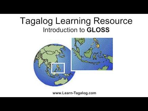 Using GLOSS as a Tagalog Language Learning Resource