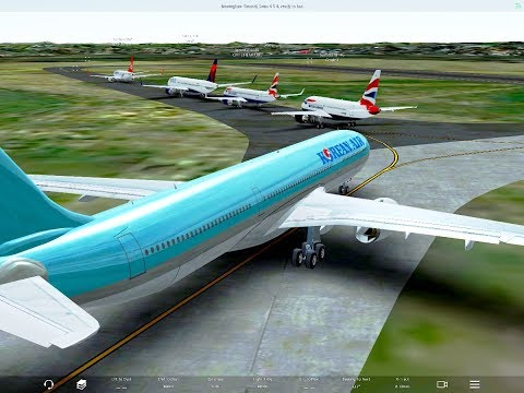 [HD] Infinite Flight Airbus A330-300 . Busy airport, smooth landing ,CoPilot+Infinite pax