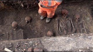 Makabert fynd mitt i Malmö - 15-20 skelett hittade