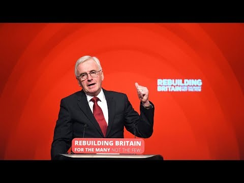 John McDonnell addresses Labour party conference