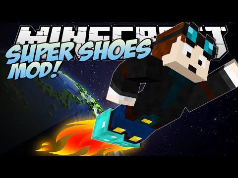 Minecraft | SUPER SHOES MOD! (Jet Boots, Feather Shoes & More!) | Mod Showcase