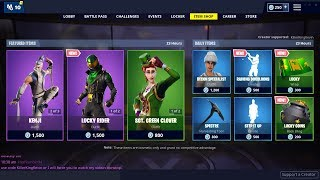 Sgt. Green Clover Returns + NEW SKINS, EMOTE & WRAP: Fortnite Item Shop