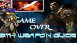 Dynasty Warriors 3 Xtreme Legends- Xiahou Dun  5th Weapon