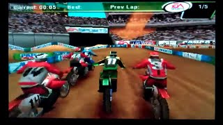 Supercross 2000 Playstation Gameplay