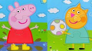 Пеппа и Кенди - друзья! Собираем пазлы для малышей | Merry Nika