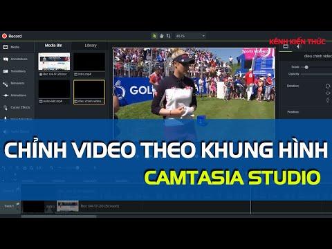 Hướng dẫn điều chỉnh kích thước video theo khung hình trong Camtasia