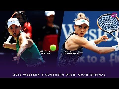 Simona Halep vs. Lesia Tsurenko | Western & Southern Open Quarterfinals | WTA Highlights
