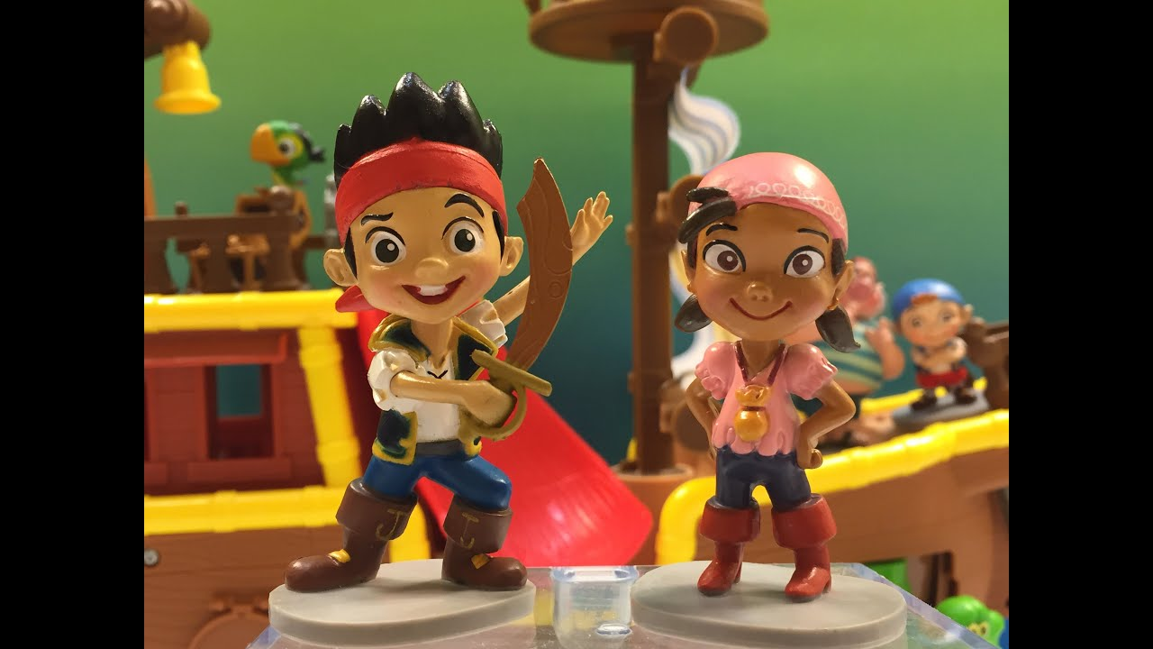 Jake and The Never Land Pirates 7 Figurine Playset Izzy, Cubby ...