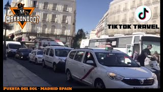 TikTok Travel License to Explore Madrid Diaries - Puerta del Sol (Km 0) of the Spanish Roads.