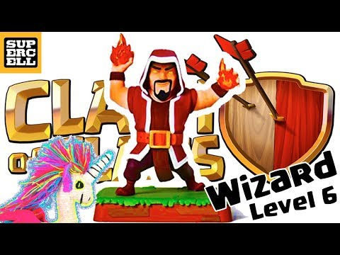 Wizard Level 6 Clash Of Clans Rare Figure Supercell JSALEj #30
